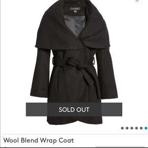 Nordstrom Halogen Woolblend Cape Coat *NO BELT*